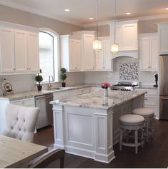 Marble and backsplash is perfect