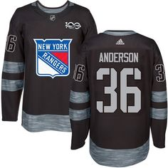 Rangers #36 Glenn Anderson Black 1917-2017 100th Anniversary Stitched NHL Jersey