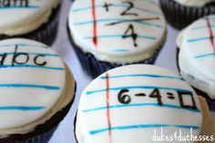 Back to School Cupcakes - Dukes and Duchesses