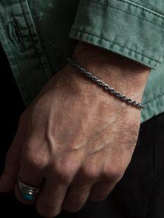 Bracelets For Boyfriend, Bracelets For Men, Boyfriend Gifts, Silver Bracelets, Sterling Silver Mens Rings, 925 Silver, Silver Man, Black Oxide, Silver Tops