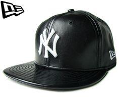 (ニューエラ) NEW ERA 59FIFTY NEW YORK YANKEES フルレザーキャップ ブラック【BLACK】【黒】【newera】【帽子】【ニューヨーク・ヤンキース】【MLB】【メジャーリーグ】【LEATHER CAP】【CAP】【キャップ】【レア】【NY】