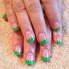St. Patty's nails--Tips n' Salsa