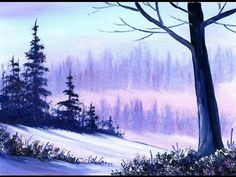 Warm Winter Snow (5x7) / Small & Simple Oil Painting Exercise for Beginners