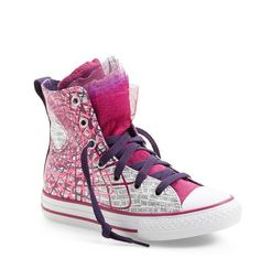 Cool kids' sneakers: Chuck Taylor Party High Top with tulle accent at the tongue
