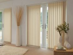 The slats of the Eclipse Atlantex Dark Beige vertical blinds are made from moisture resistant, glare reducing and fire retardant fabrics making them ideal for office areas, computer rooms and more. Dark Beige, Blinde, Roller Blinds, Sliding Glass Door, Pergola, Curtains, Living Room, Interior Design, House