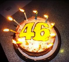 Birthday cake with candles - #ValentinoRossi 46