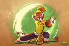ArtStation - Kung Fu Panda: Battle of Destiny, Philippe G Ramsay Dreamworks Movies, Dreamworks Animation, Disney And Dreamworks, Animation Films, Wing Chun, Tigress Kung Fu Panda, Kung Fu Uniform, Animé Fan Art, Panda Art