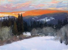 """plein air painting by Kevin Macpherson  From May 15 to June 15, the Middletown (Ohio) Arts Center will host """"Reflections on a Pond,"""" a show of Macpherson's expressive, painting-a-day landscapes."""