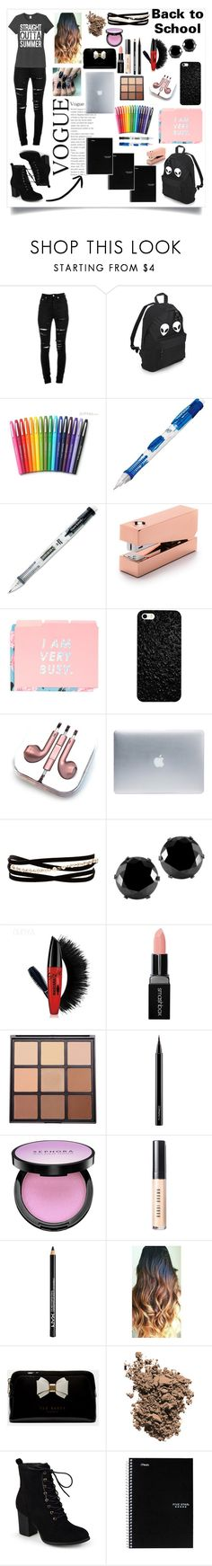 """""""Back to school"""" by kitty-cat130 ❤ liked on Polyvore featuring Yves Saint Laurent, Paper Mate, Tom Dixon, ban.do, PhunkeeTree, Incase, Kenneth Jay Lane, West Coast Jewelry, Smashbox and Morphe"""