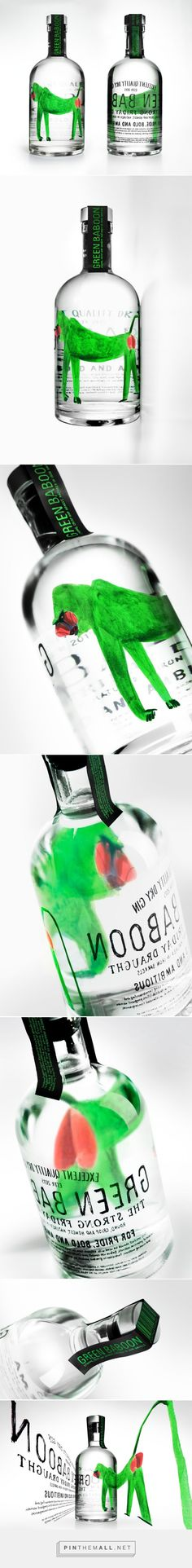 Green ‪#‎Baboon‬ Dry ‪#‎Gin‬ ‪#‎concept‬ ‪#‎packaging‬ designed by Denis Kalinin - http://www.packagingoftheworld.com/2015/04/green-baboon-dry-gin-concept.html