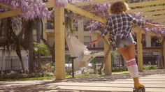 Sexy Riding Girl On Roller Skates #Arbour, #City, #DanielDash, #Female, #Garden, #Historic, #KneeHigh, #Legs, #Shoe, #Slow, #Socks, #Sport, #Tunnel, #Urban, #White, #Woman http://goo.gl/SXGhPO