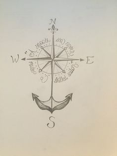 "Compass anchor tattoo ""A smooth sea never made a skilled sailor"" Feather Tattoos, Rose Tattoos, Body Art Tattoos, New Tattoos, Tatoos, Sternum Tattoo, Forearm Tattoos, Finger Tattoos, Anchor Compass Tattoo"