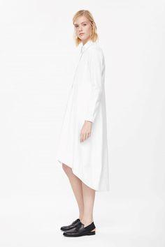 Graduated shirt dress - Weiß
