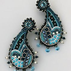 "Earrings ""paisley"" http://annbraginsky.com/product/470"