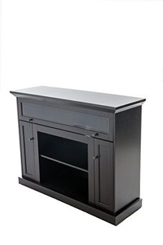 Home Source Industries TV12355 Taylor Hardwood TV Stand With Shelves And  Cabinets For Components, Espresso