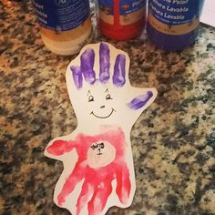Our Dr.Seuss week has started ... Hand print Thing 1 @_appleofmyeyedaycare_