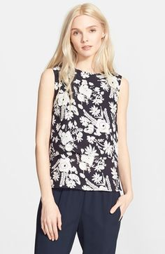 Theory 'Hodal' Floral Print Top available at #Nordstrom