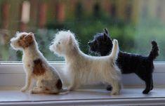 terrier trio | by feltedfido | adore62 | Flickr
