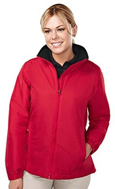 Trimountain Women 100 polyester long sleeve jacket with water resistent   REDBLACK  XXXXLarge -- Want to know more, click on the image.