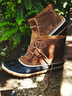 Out 'n About Weather Boot   The perfect all weather waterproof lace-up bootie featuring a leather body and rubber toe and sole.  EVA cushioned footbed for extra support.     *By Sorel
