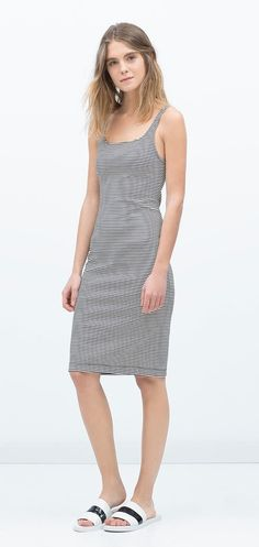 The staple dress that you could wear with anything. Zara Basic Sleeveless Dress ($20)