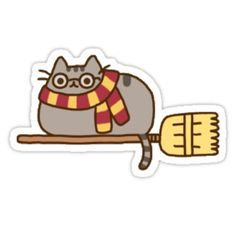 Pusheen Cat Harry Potter by thelittleone245