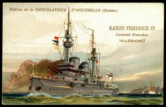 "https://flic.kr/p/hyjuxb | French Tradecard - German Battleship, ""Kaiser Friedrich III"" 