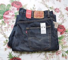 NWT Men  Levi's 550 Blue Relaxed Fit Tapered Leg Jeans Size 42X30 #Levis #Relaxed