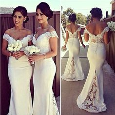 c8e999f0bc1 Off Shoulder Lace Bridesmaid Dresses Pst0328 on Luulla Prom Long, Formal  Prom, Formal Wedding