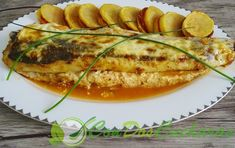 Merluza rellena de langostinos al horno Relleno, Zucchini, Vegetables, Recipes, Food, Baked Shrimp Scampi, Fish Recipes, Mayonnaise, Kitchens