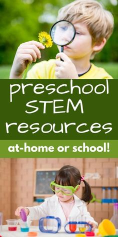 The best preschool STEM and STEAM resources that will provide tons of fun actvities all year long. Teach STEM concepts in preschool. Preschoolers will love all of these science, math, engineering and tech learning ideas. Stem Science, Preschool Science, Science Experiments Kids, Kindergarten Activities, Educational Activities For Kids, Science Resources, Science Activities, Steam Learning, Coding For Kids