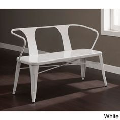 Tabouret Metal Bench With Back   Overstock™ Shopping   Great Deals On  Dining Chairs