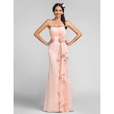 παράνυμφος φόρεμα δαπέδου μήκους σιφόν θήκη αγαπημένη στήλη φόρεμα – EUR € 81.81