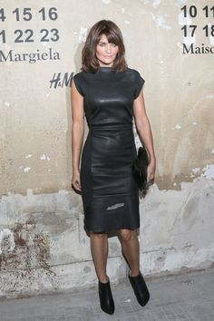 """fashiondailymag: """" helena christensen via CELEBS trending fashion with a little dance number """""""