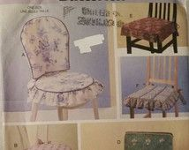 Check out our chair cover patterns selection for the very best in unique or custom, handmade pieces from our chair slipcovers shops. Dining Chair Slipcovers, Dining Chairs, Chair Pads, Pattern, Furniture, Etsy, Home Decor, Decoration Home, Chair Cushions