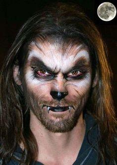 Werewolf makeup inspiration (maquillaje halloween special effects) Visage Halloween, Halloween Men, Halloween Looks, Cool Halloween Costumes, Halloween Face Makeup, Halloween Party, Scary Makeup, Halloween 2020, Pirate Costumes