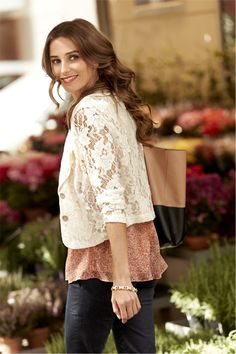CAbi Spring 2013 Great lace jacket to layer over cami style tops...So vintage-y!  One of my FAVES!!