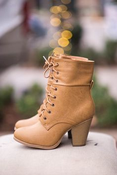 Yessssss, these are SO cute! Wild Thing Heel Combat Boots - NanaMacsBoutique - 1