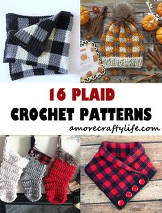 plaid crochet patterns - crochet pattern pdf - crochet pattern - amorecraftylife.com #plaid #crochet #crochetpattern