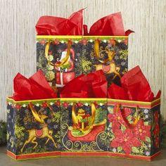 Red Plain Kraft Jumbo Roll Gift Wrap 72 sq ft.