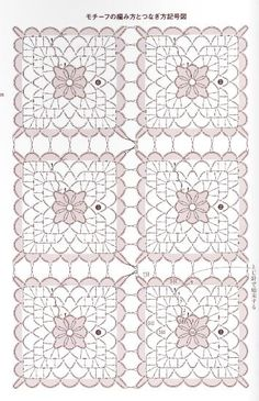 Patterns and motifs: Crocheted motif no. 954