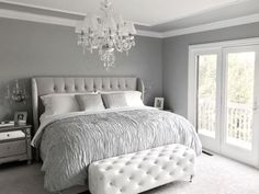 how to decorate a gray bedroom - How to Decorate A Gray Bedroom - Interior House Paint Ideas, grey bedroom decor awesome bedroom light pink room accessories Grey Bedroom Decor, Glam Bedroom, Bedroom Interiors, Bedroom Curtains, Trendy Bedroom, Bedroom Inspo Grey, Grey Bedroom Colors, Diy Bedroom, Bedroom Apartment