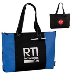 For the Tote Lovers! Executive Promotional Products: Customized 100% Recycled PET Laguna Zippered Tote Bag
