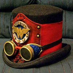 steampunk wonder woman Published July 2013 at 615 × 615 in Steampunk poised to become . Steampunk Hat, Steampunk Cosplay, Victorian Steampunk, Steampunk Clothing, Steampunk Fashion, Steampunk Halloween, Gothic, Kelly's Heroes, Steampunk Characters