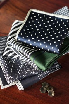 Hand Rolled in Japan - Pocket Squares for Manolo Costa, New York