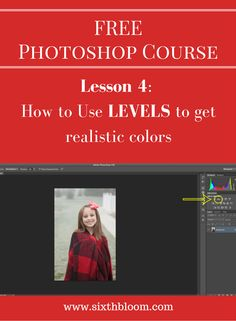 Photography Tips | photoshop tips, photoshop editing tips, editing pictures, photoshop tutorial, How to Use Levels for a Color Scheme in Photoshop