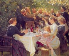PS Krøyer - Hip hip hurra! Kunstnerfest på Skagen 1888 - Michael Ancher - Wikipedia, den frie encyklopædi
