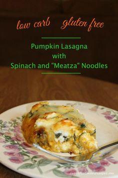Low carb pumpkin lasagna