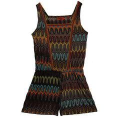 MISSONI MARE  Zig zag multi-coloured playsuit  £395
