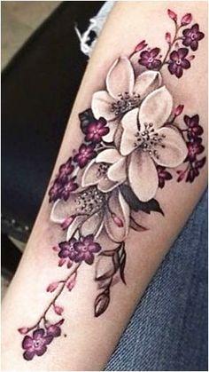 butterfly and music tattoos, guardian angel warrior tattoo, tummy tats, devil tattoo images, Men Flower Tattoo, Beautiful Flower Tattoos, Flower Tattoo Designs, Pretty Tattoos, Unique Tattoos, Plumeria Flower Tattoos, Flower Cover Up Tattoos, Lilly Tattoo Design, Lilac Tattoo